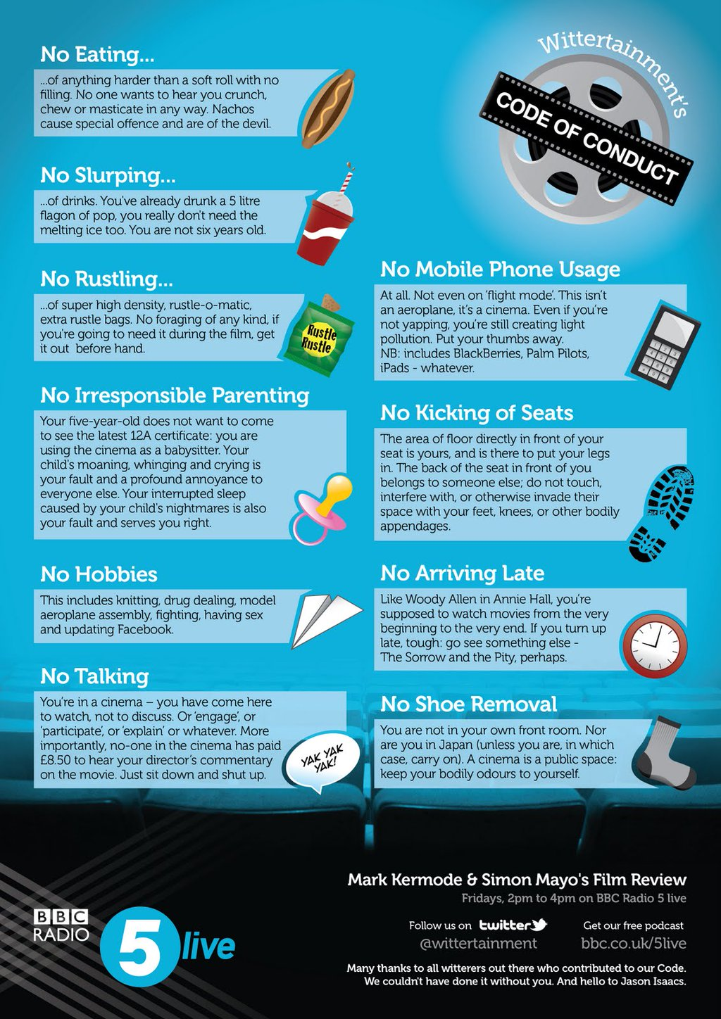 Wittertainment Rules of Cinema